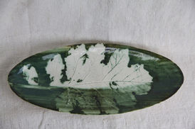 Acanthus Green Oval Dish, 2020