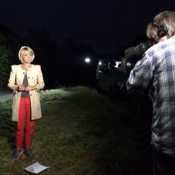 Louisa broadcasting live on BBC London N