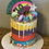 Thumbnail: Buttercream covered drip cake 6inch
