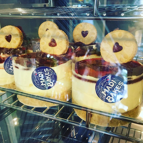 Mini Cheesecakes. Pic n mix, chocolate, lemon, Jammie dodger or salted caramel