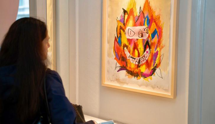 Orlando Marosini  Flaming Auras - Drawing Exhibition   June 2021, Zurich