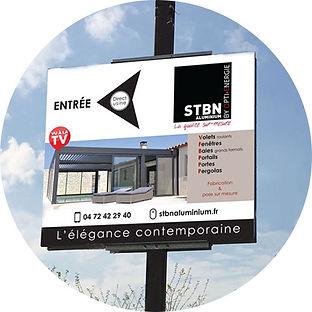Panneaux publicitaires à Lyon