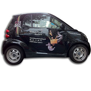 publicite adhesive sur voiture à lyon
