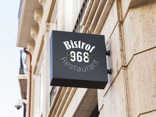 Nouveau logo pour le bistrot 968. Une création Force 9 Communication