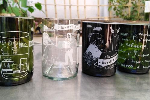 Set de 4 vasos mixtos
