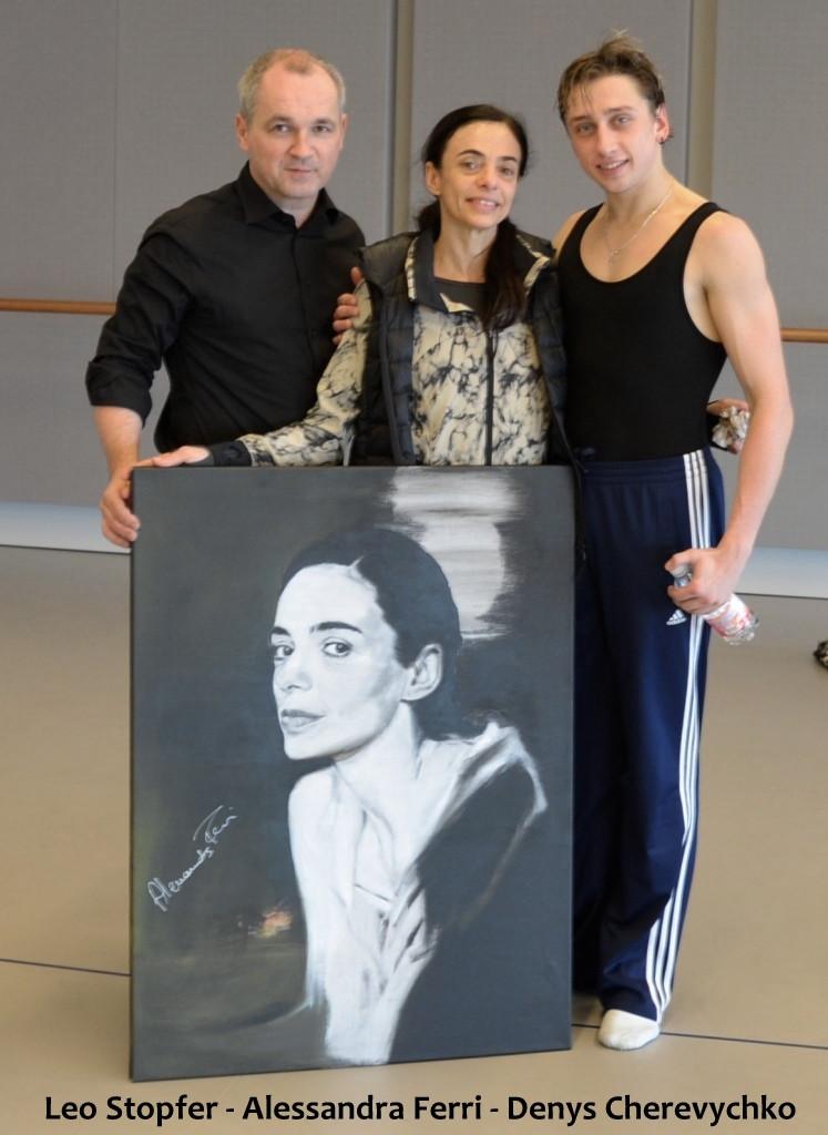 Leo Stopfer con Alessandra Ferri e Denys Cherevychko