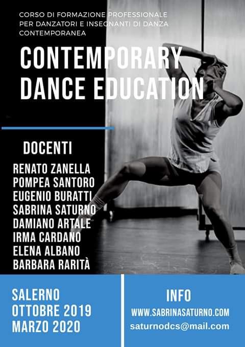 Contemporary dance education 2019, corso di formazione professionale di danza contemporanea.