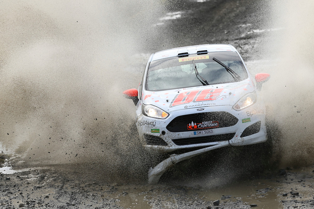 Tom Williams in action at Wales Rally GB - Image Jakob Ebrey Photography