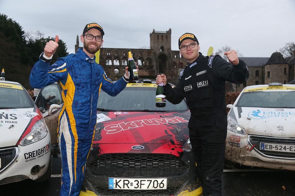 Oscar Solberg (right) and Patrik Barth (left) take Junior BRC glory