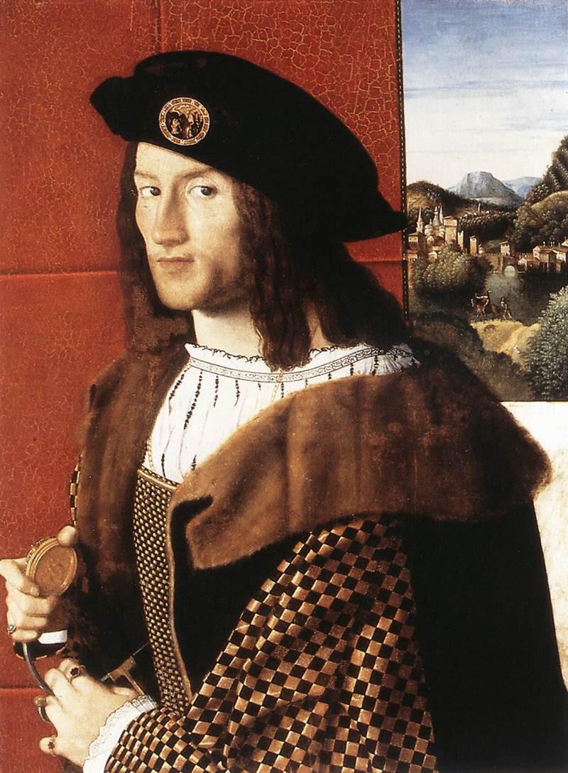 1512 ca Bartolomeo Veneto Ritratto di Gentiluomo Galleria Nazionale D'arte antica Roma 001