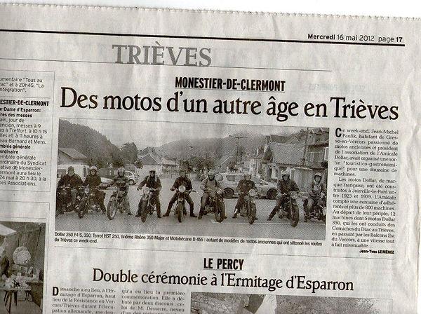 Sortie moto vintage Dollar Vercors Rosidajean Dauphine libere
