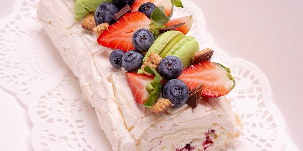 Online American Baking Classes - Key Lime Pie Meringue Roulade