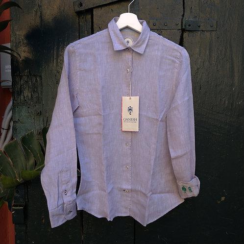 Taupe Linen Shirt - Ganesh