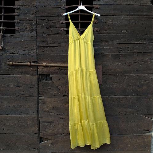 Long Dress in Washed Silk - King Kong