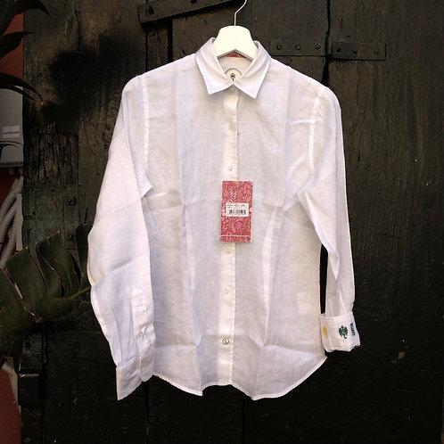 Camicia di Lino Bianca - Ganesh