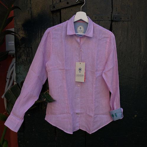 Pink Linen Shirt - Ganesh