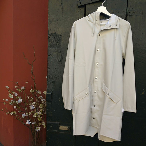 Long Jacket Off-White - Rains