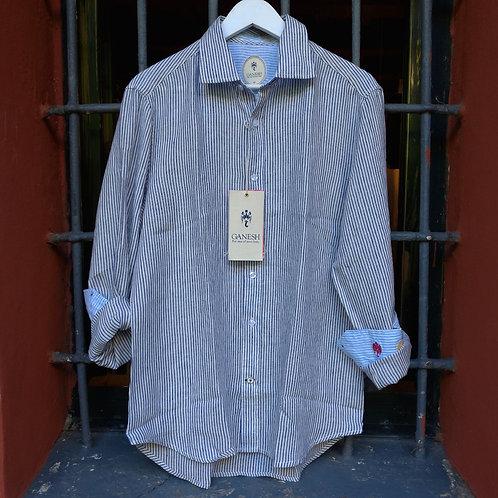 Camicia di Lino a Righe - Ganesh