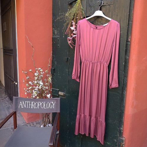 Vestito a Maniche Lunghe Rosa Antico - Myastreet