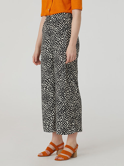 Wide Checkered Trousers - Nice Things