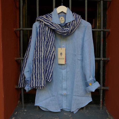 Blue Linen Shirt - Ganesh