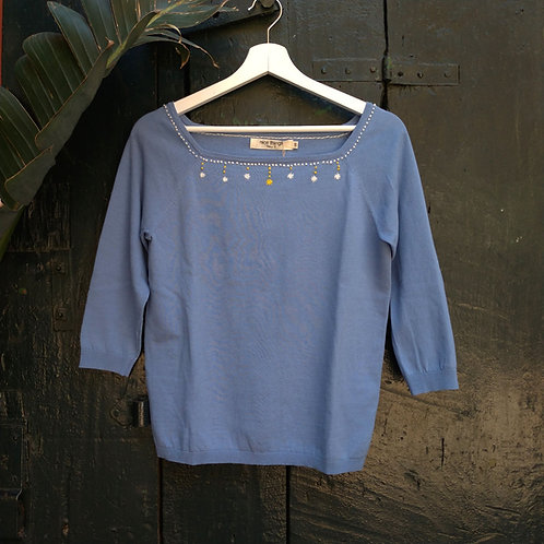 Cotton Embroidered Sweater - Nice Things