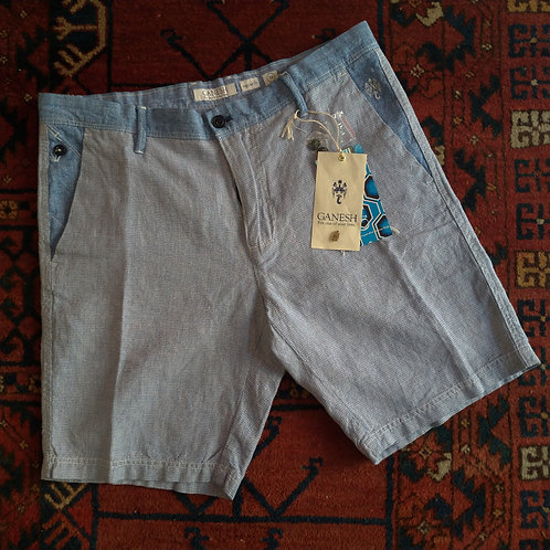 Mixed Linen/Cotton Shorts - Ganesh