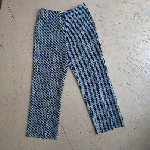 Cubic Print Culotte Trousers - Nice Things