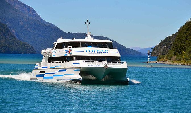 cruce andino en bicicleta por los lagos con catamaran | Excursio en bicicleta Cruce Andino | Bosque de arrayanes en biciceta | Turisur catamaran | Cau Cau Catamaran |