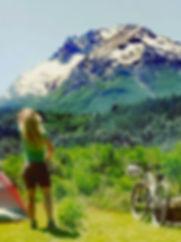 Cerro tronador en bicicleta | Cascada los Alerces en bici | Alquiler de bicicleta en bariloche, villa la angostura, san martin de los andes viajes en bicicleta cicloturismo, alquiler de alforjas para viajes en bici