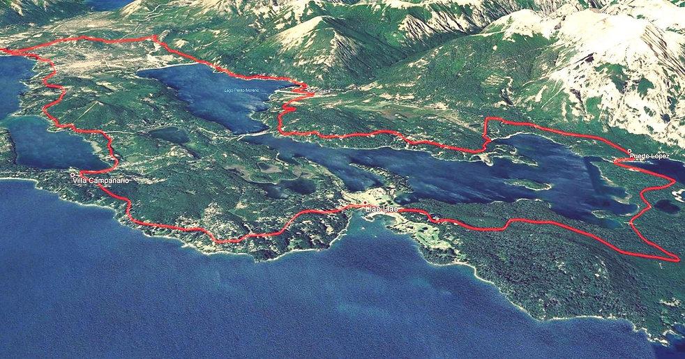 mapa circuito chico mountain bike MTB Bariloche Argentina