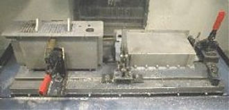 Aluminum TOW power conditioner chassis undergo CNC milling process