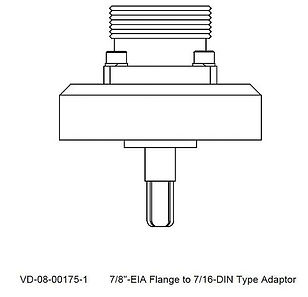 "7/8"" - EIA Flange to 7/16-DIN Type Adaptor"