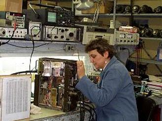 RT-524 radio undergoing repair