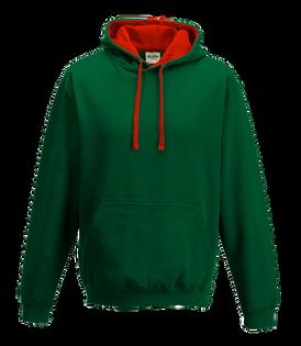 Bottle Green / Fire Red