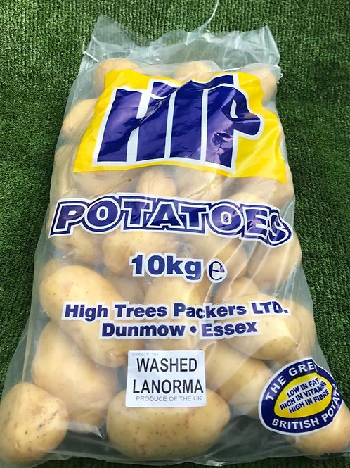 10kg Bag Of Washed Potatoes