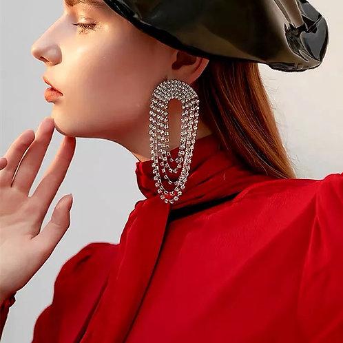 Crystal Chain Earring