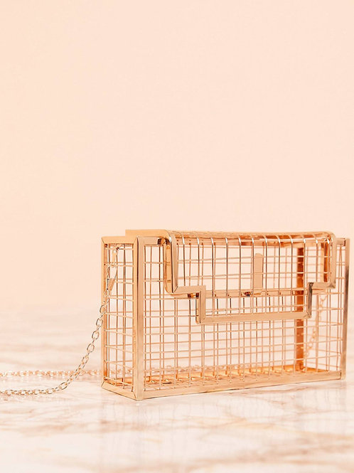 Life in a cage purse