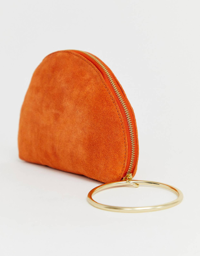 SUEDE MOON CLUTCH