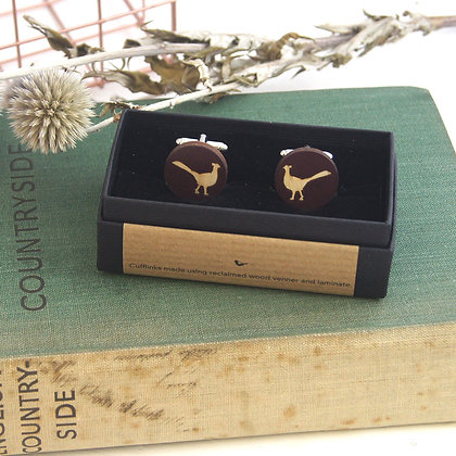 Laminate Pheasant Cufflinks