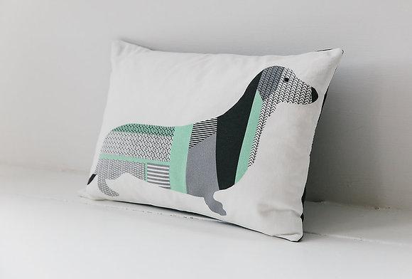 Derek The Dachshund mint cushion