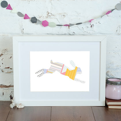 Leaping Hare Print