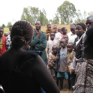 Samråd i en fredskomité i Mutaho, Burund