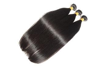 Silky straight natural black human hair