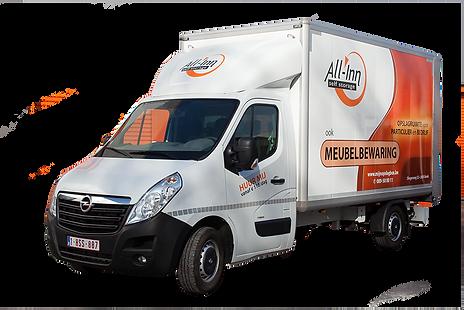 Huur onze verhuiswagen met laadklep - All-inn self storage Genk