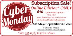 Cyber Monday Subscription Sale