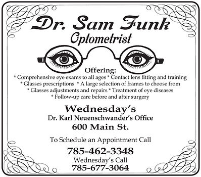 """Dr. Sam Funk-2cx4"""" ad"""