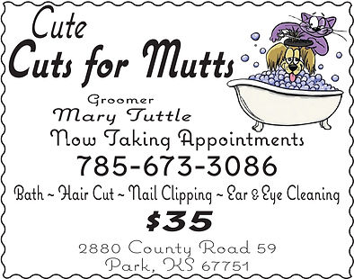 "Cute Cuts for Mutts-2cx3"" ad"