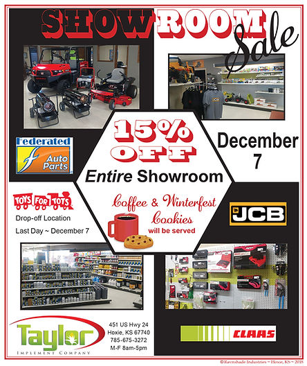 "Taylor Implement Showroom Sale2cx7"" ad"