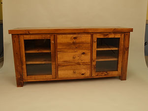 D2 Rough Sawn 3 Drawer 2 Door Ent Unit.j